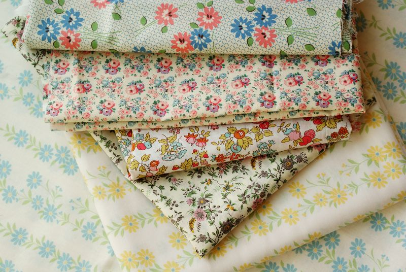 fabric stash pile