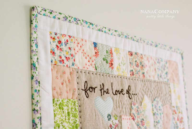 nanaCompany mini quilt wall hanging