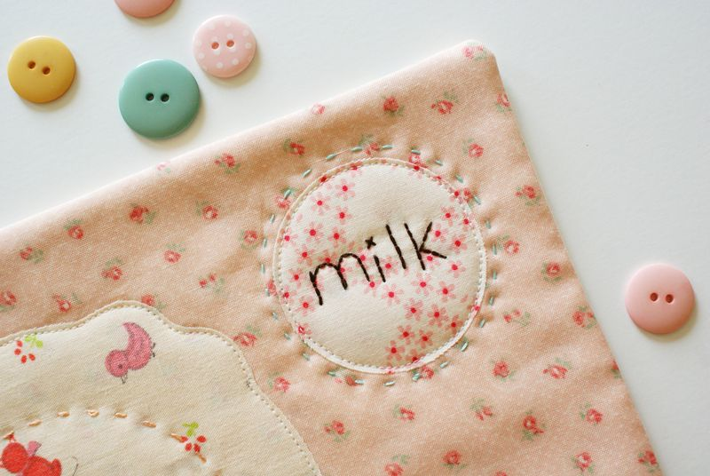 nanaCompany milk and cookies snack mat