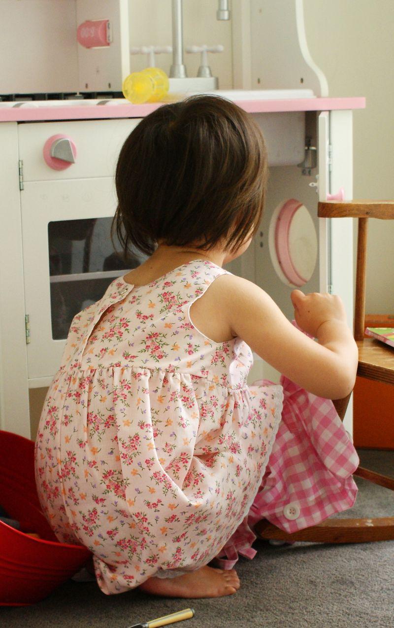 nanaCompany handmade dress, snap on the back D220
