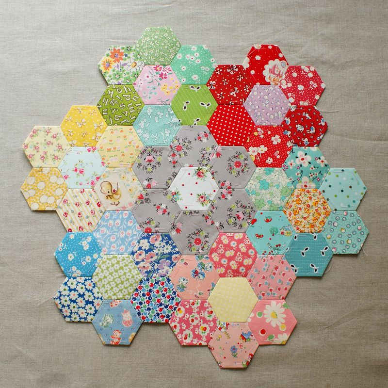 nanaCompany hexagon patchwork