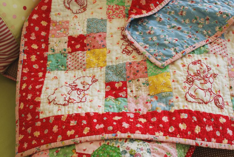 baby animals quilt by nanaCompany, Q1361