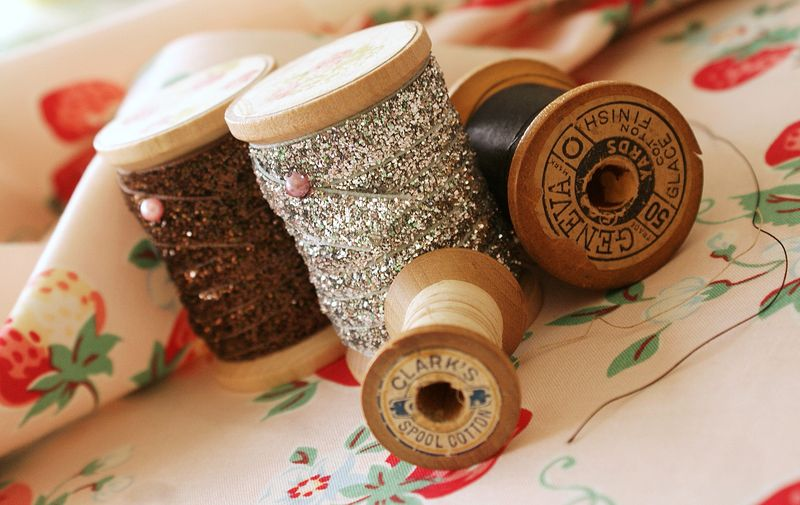 vintage spools and atsuko matsuyama fabric, T238tp