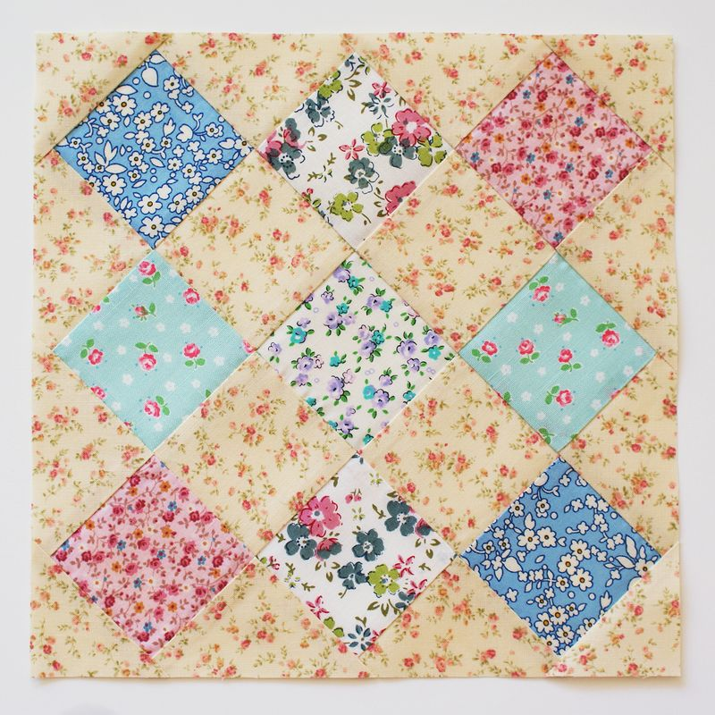 Farmer's Wife quilt along block, no. 19 Checkerboard, by nanaCompany, B165p