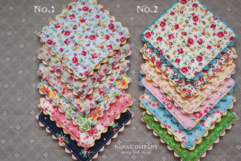 nanaCompany ric rac fabric coasters... cocktail napkins