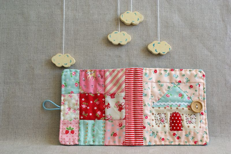 patchwork quilted needlebook, handmade by nanaCompany, T217