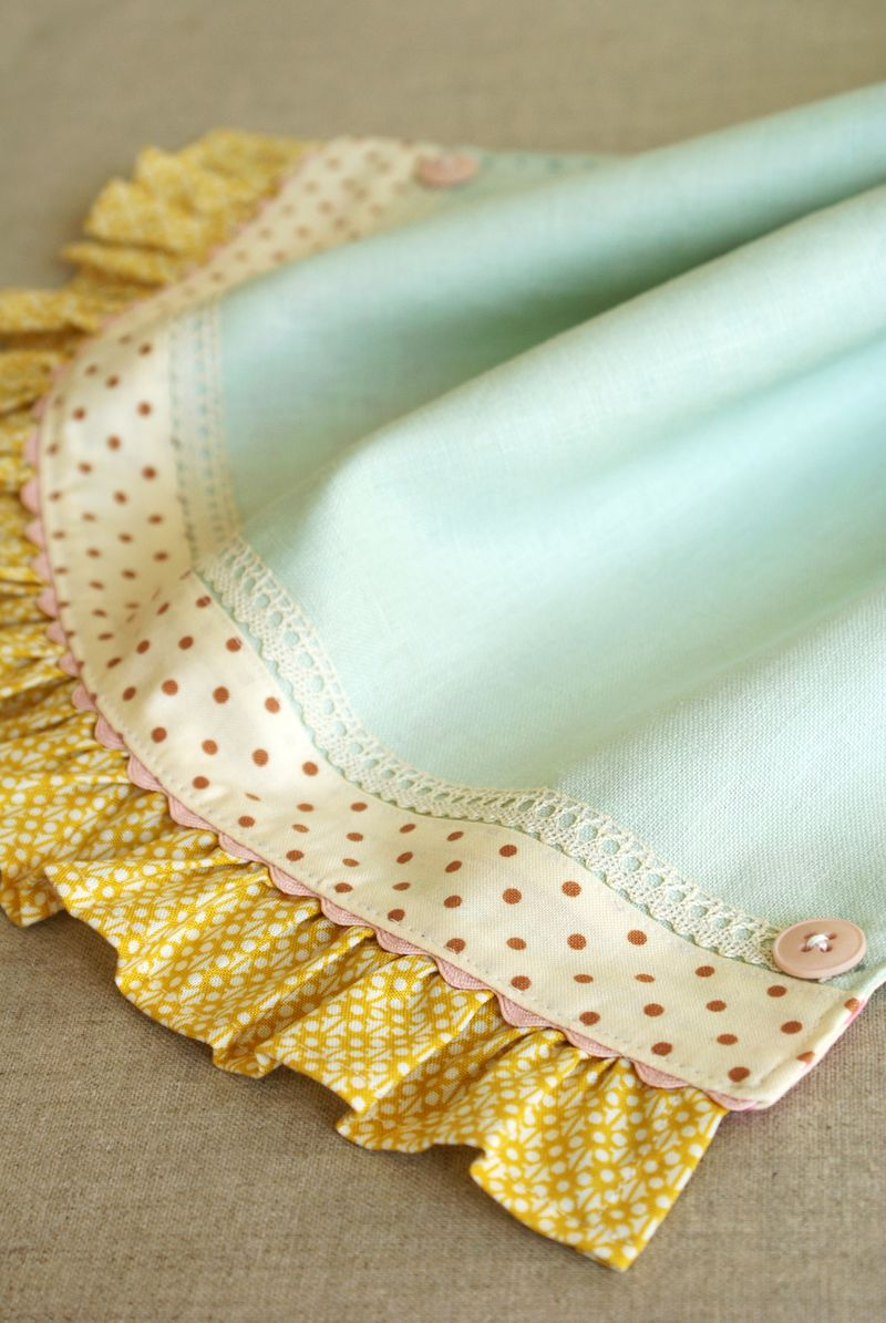 handmade linen tea towel by nanaCompany, T103pp