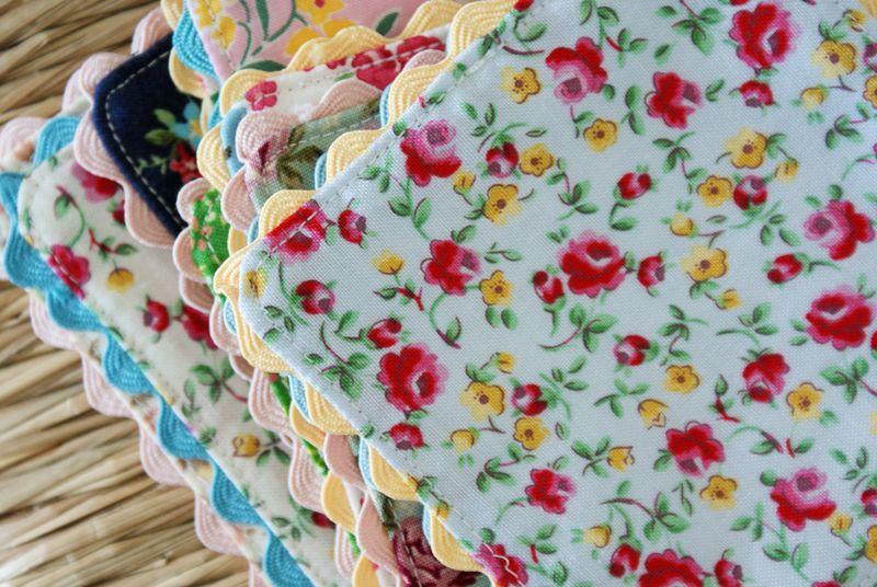 ric rac fabric coasters
