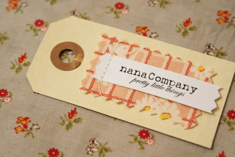 nanaCompany hang tag, fabric + paperT017