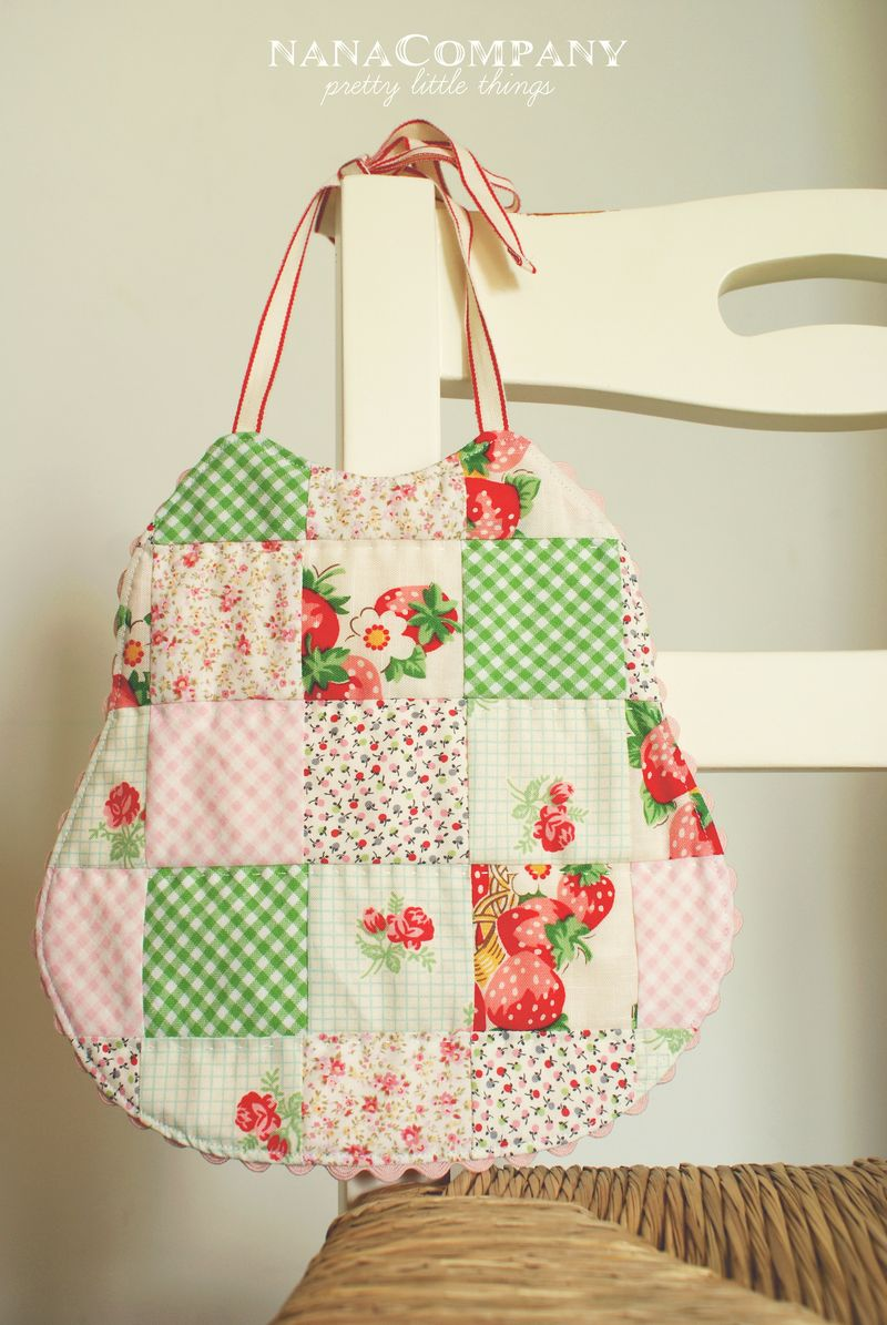 nanaCompany handmade strawberry picnic bib