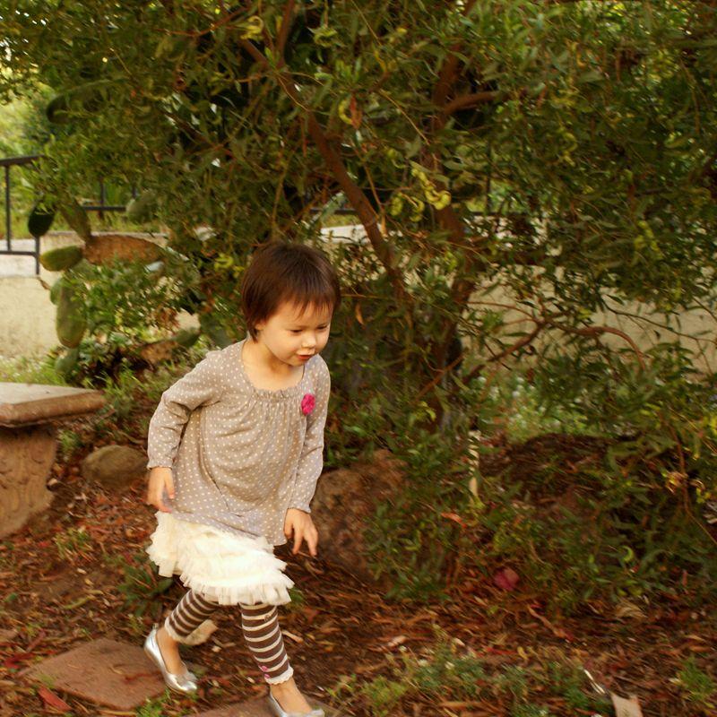 running through the secret garden