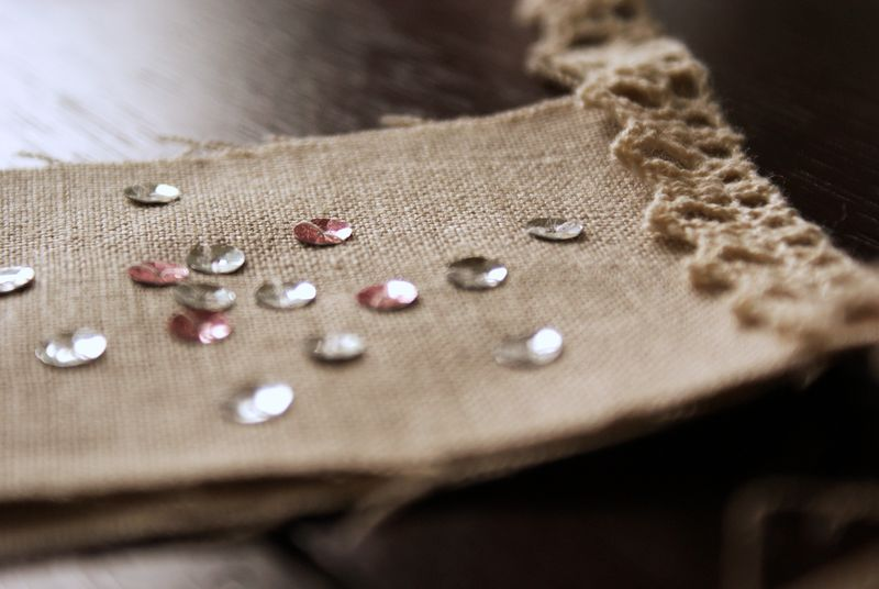 sequins and linen bunting by nanaCompanyA065p