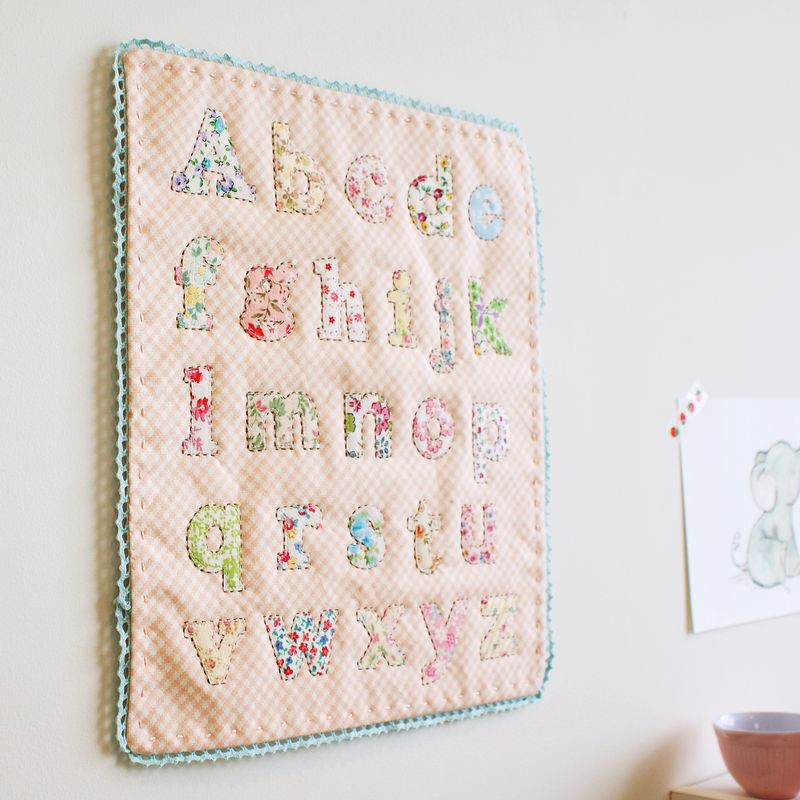 alphabet quilt, A078p