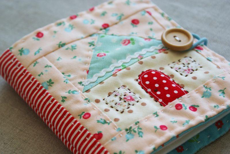 patchwork house needlebook by nanaCompany, T147p