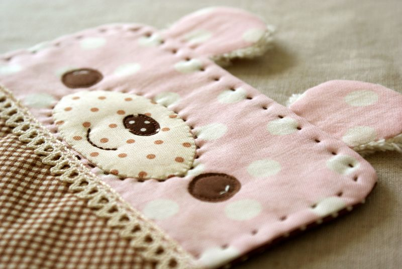 handmade bear snack mat by nanaCompany, B132p