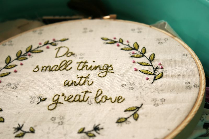 do small things with great love embroidery, E_4109p