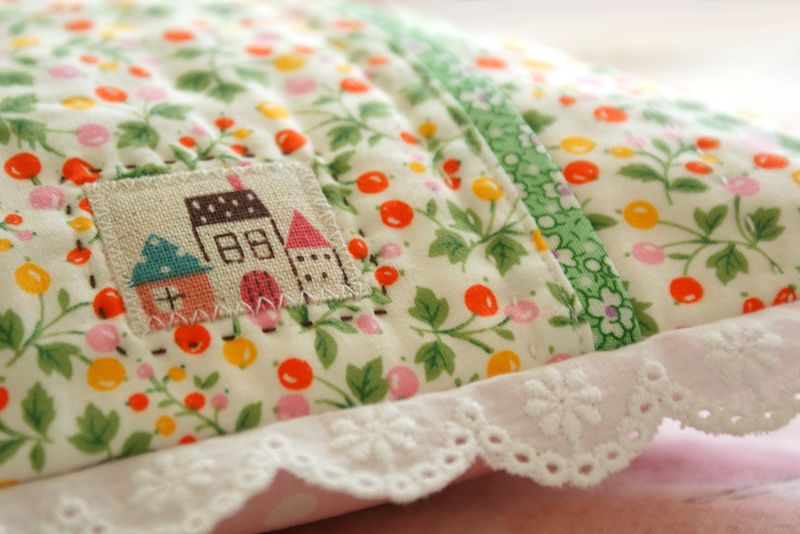 house patch on handmade pillow by nanaCompany, P102p