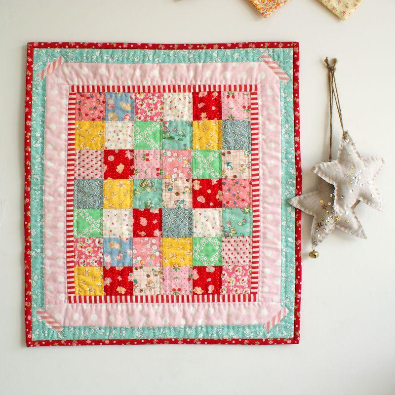 handmade doll quilt by nanaCompany, D011pp