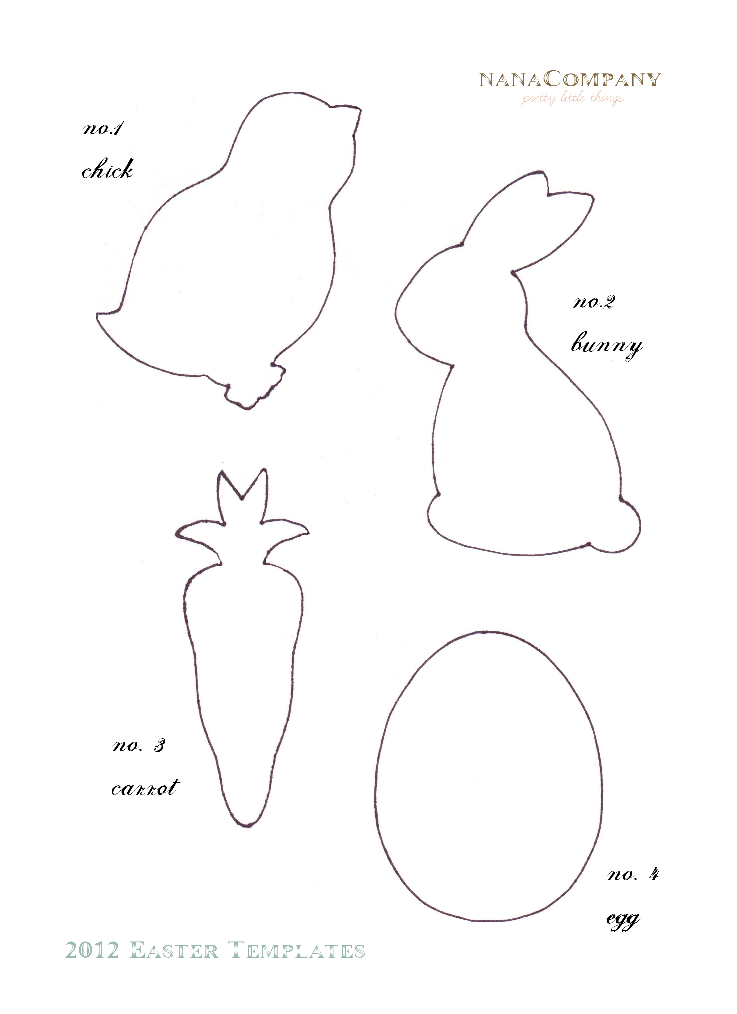 free easter animal templates u2013 early play templates