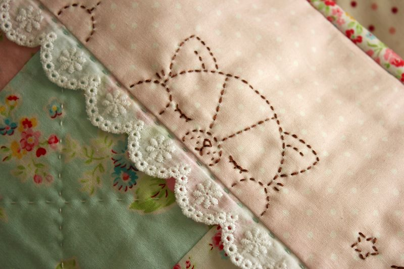 embroidered pillowcase by nanaCompany, P_2505