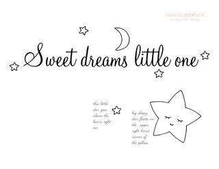 Sweet dreams little one template t