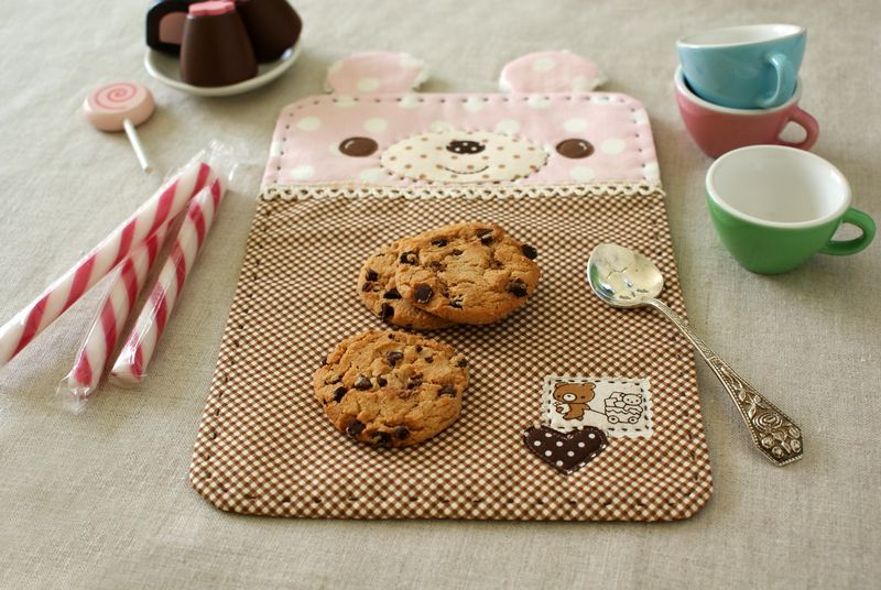 handmade bear snack mat by nanaCompany, B012