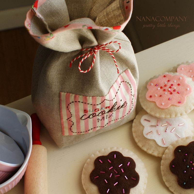 handmade zakka cookie sack by nanaCompany, C06511t