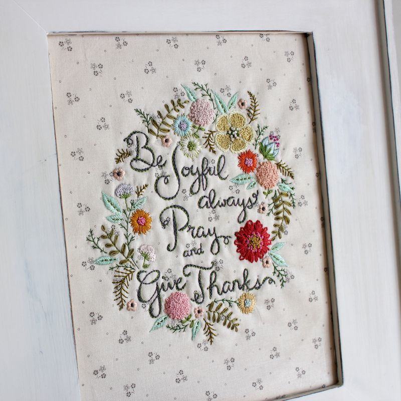 Be Joyful embroidery by nanaCompany