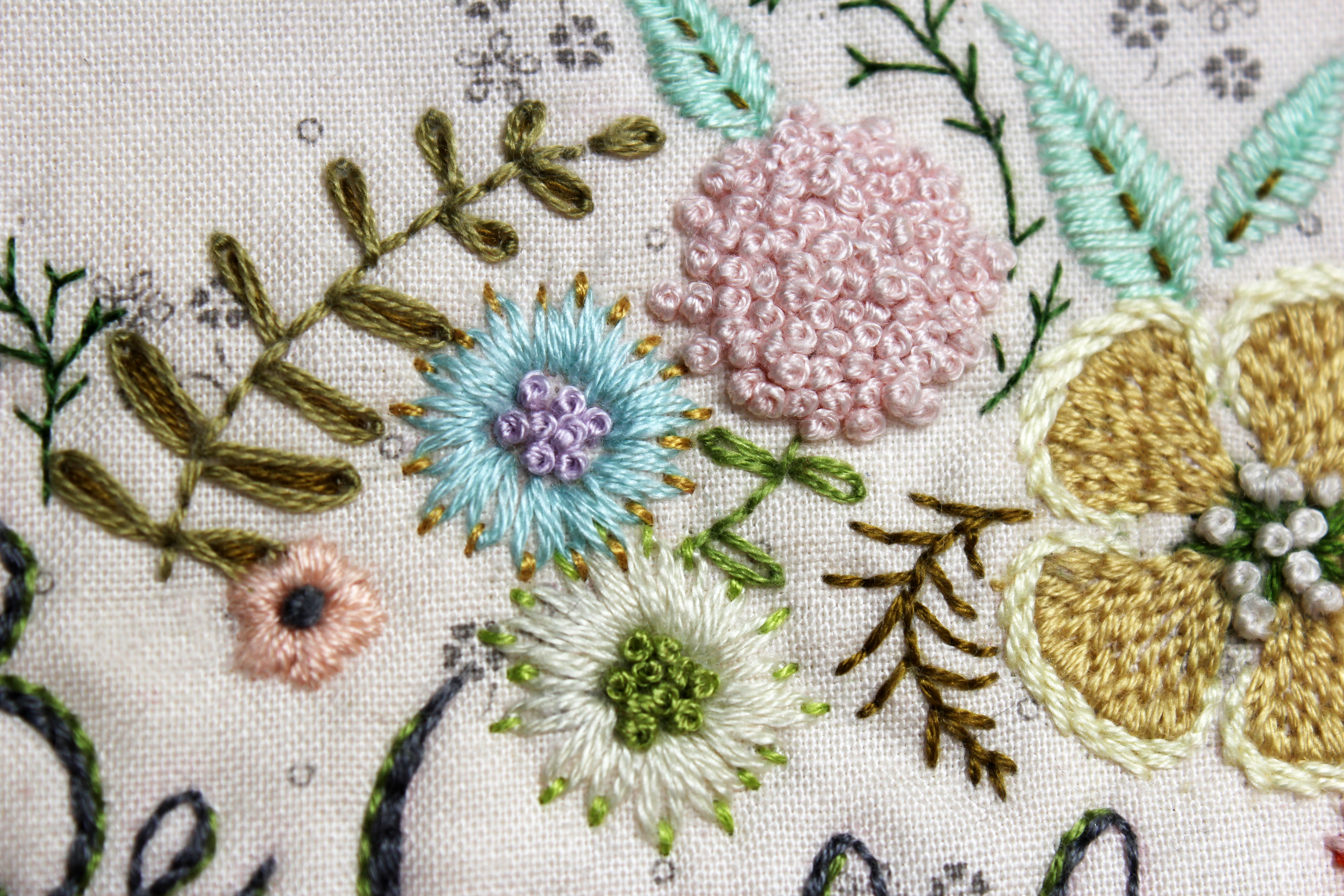 I Think The Pics Do A Lot Of Explaining ~ For Example, You Can See That  There Are Three Flowers Madepletely Of French Knots Clustered Tightly  Together