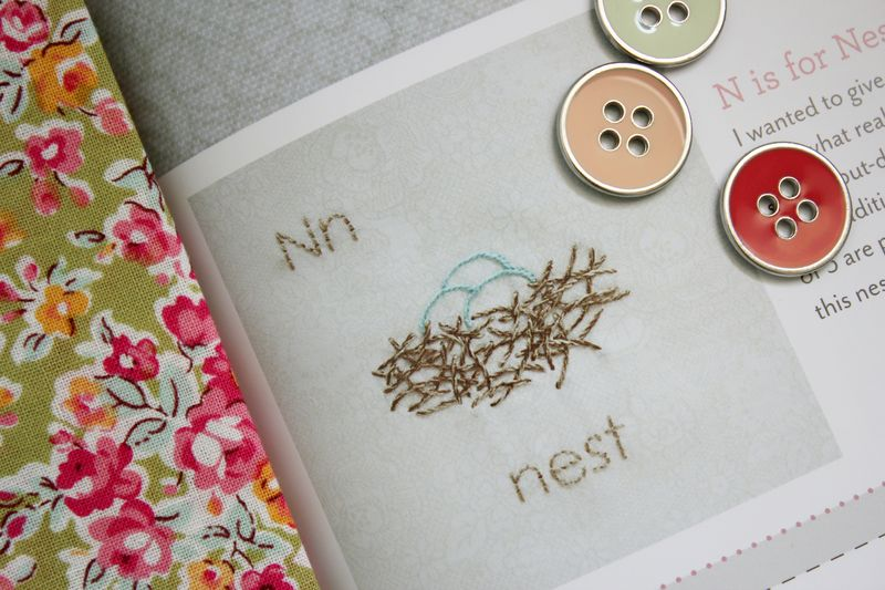 "N is for Nest, from the book, ""S is for Stitch"""