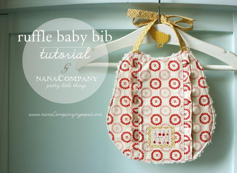 a ruffle baby bib tutorial by nanaCompany