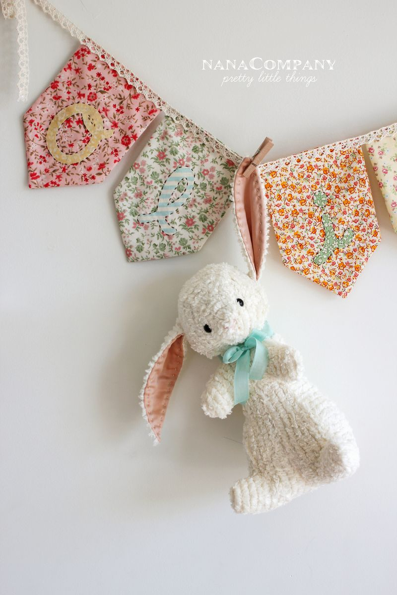 bunny handmade by nanaCompany using a pattern by Jill Hamor from her new book, Storybook Toys