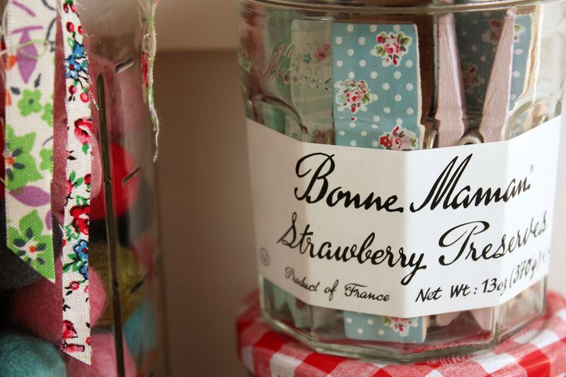 Bonne Maman jars for storage