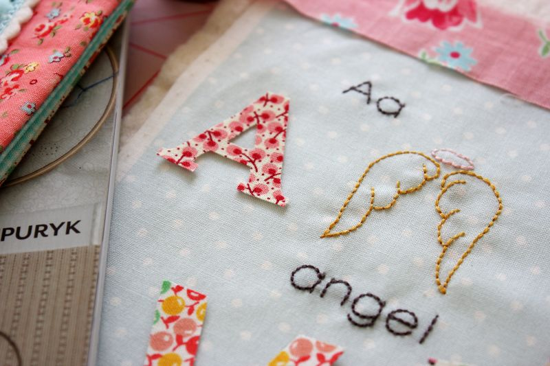 "a is for angel, from the book ""S is for Stitch"" by Kristyne Czepuryk"