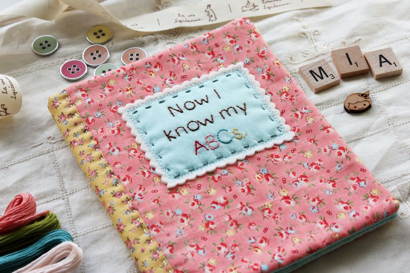 "alphabet soft book cover by nanaCompany, using embroidery patterns from ""S is for Stitch"""