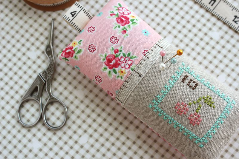 cross stitched pin cushion, by nanaCompany