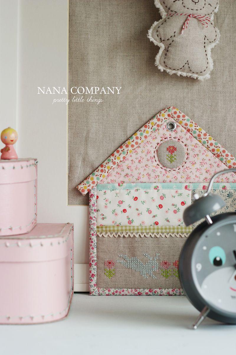 """handmade zakka house holder, """"the rabbit house"""""""