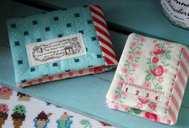 embellished needlebook backs... by nanaCompany