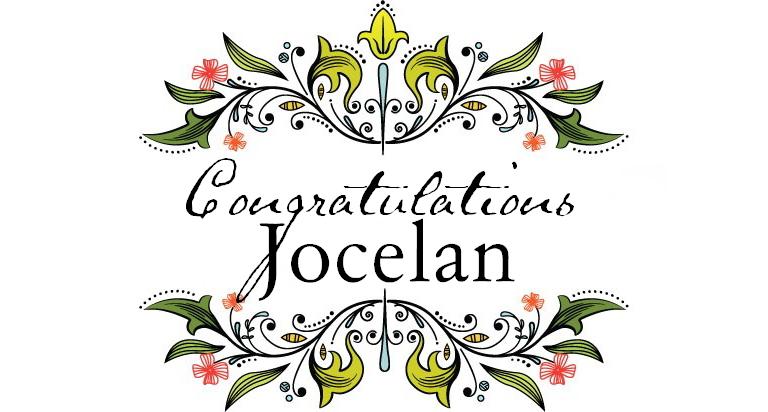 Congratulations jocelan