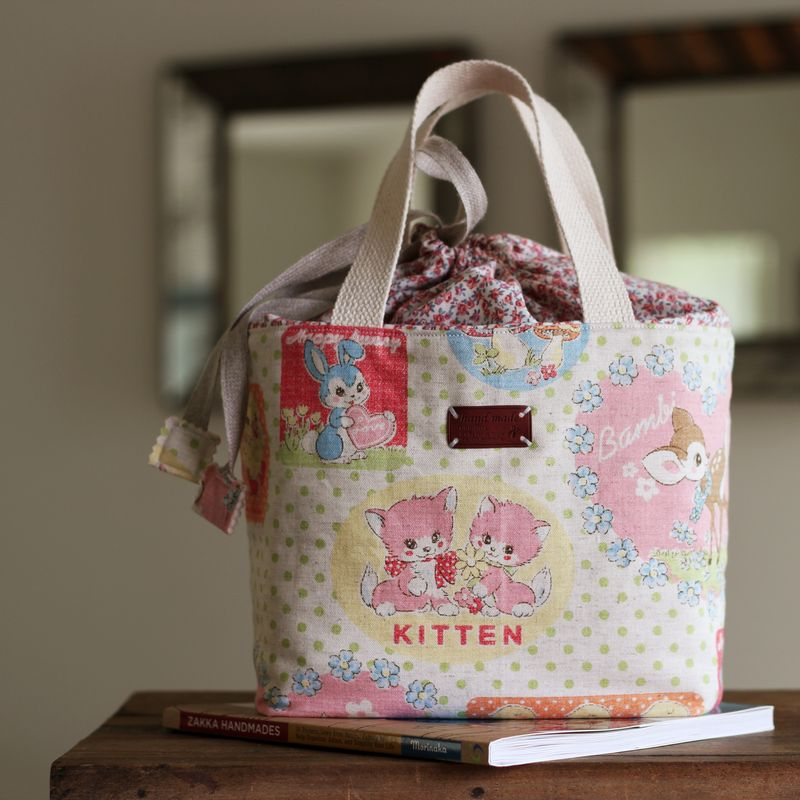 "Bento Lunch Bag by nanaCompany, pattern from the book, ""Zakka Handmades"" by Amy Morinaka"