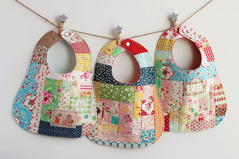 patchwork baby bibs by nanaCompany