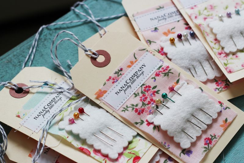 needlekeep hangtags DIY