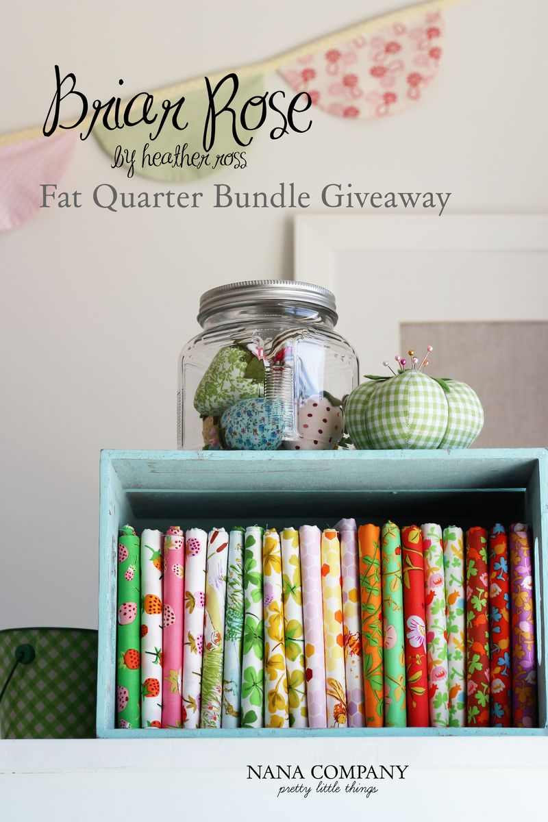 Briar Rose Fat Quarter Bundle Giveaway at nanaCompany blog :: courtesy of Simply Sweet Fabric