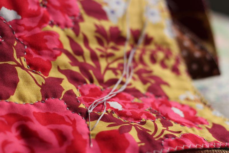 hand quilting Joel Dewberry's Heirloom Bouquet