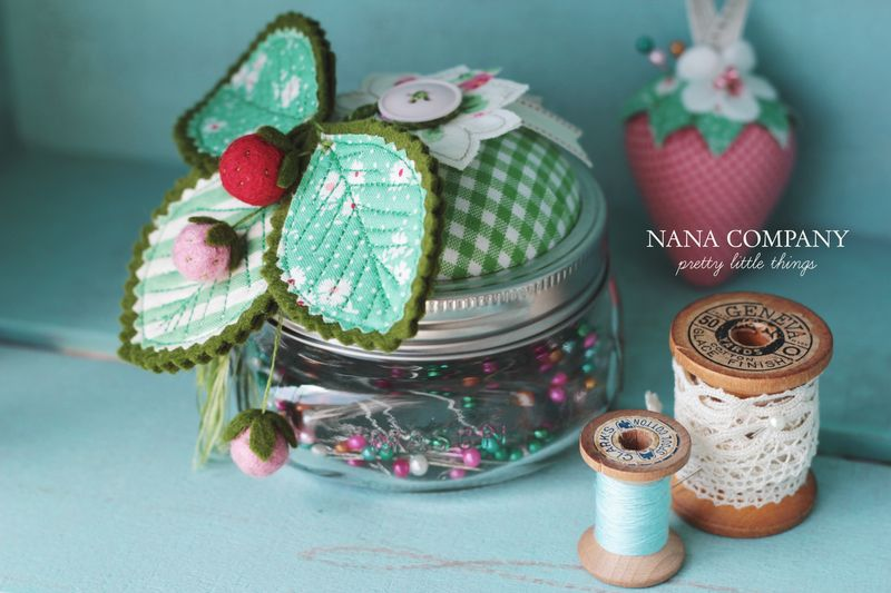 strawberry pincushion swap by nanaCompany