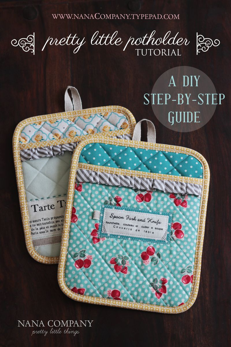 pretty little potholder tutorial by nanaCompany