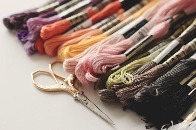 an autumn floss palette