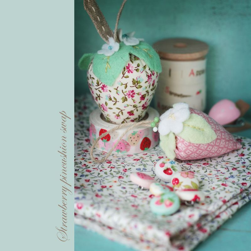 strawberry pincushion swap