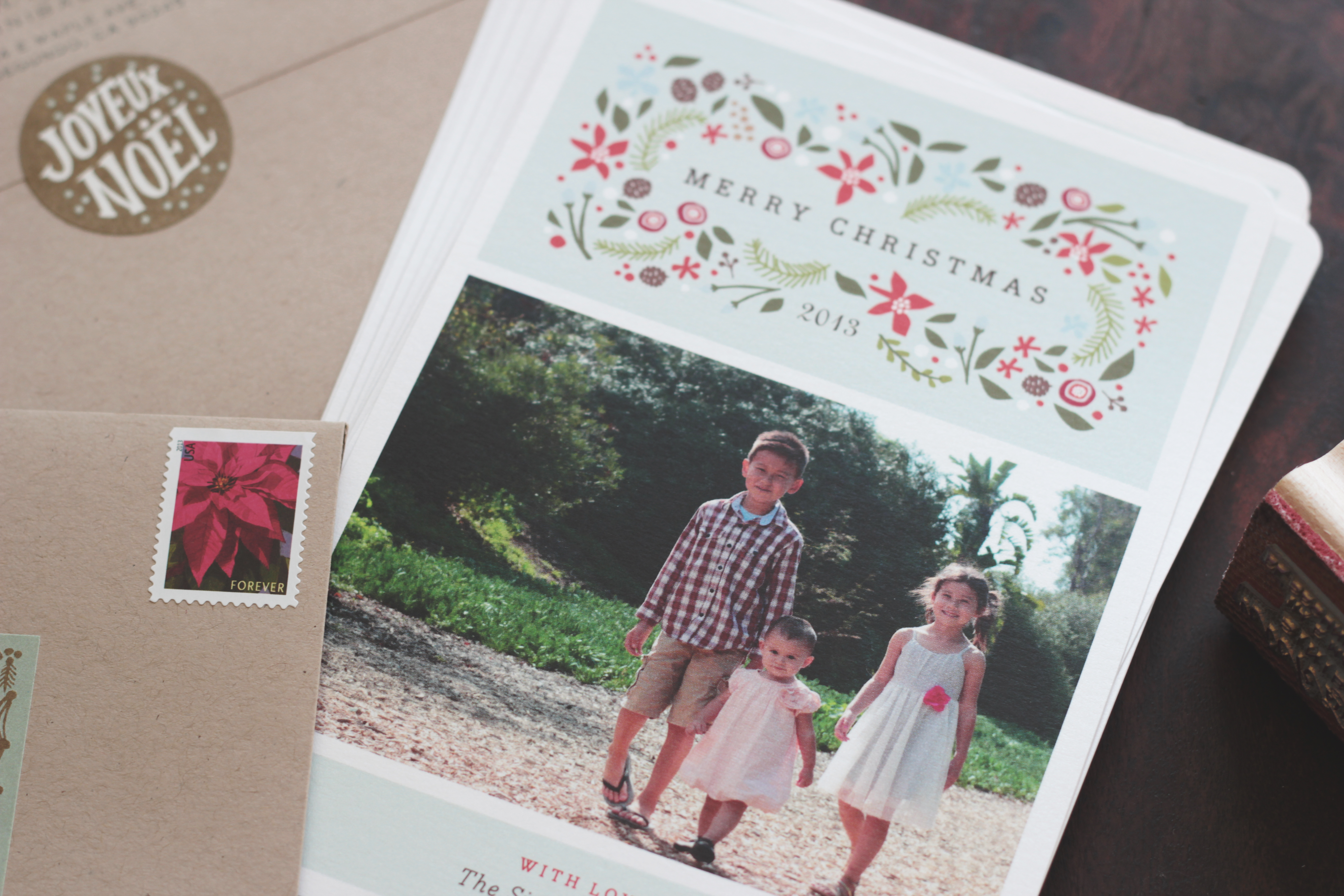 our Christmas cards this year... and the Minted giveaway winner ...