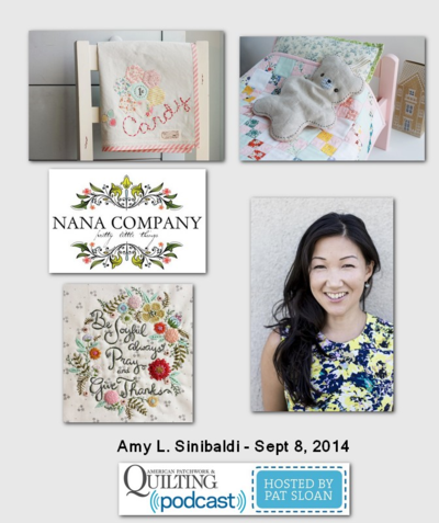 American Patchwork and Quilting Pocast Amy L Sinibaldi Sept 2014